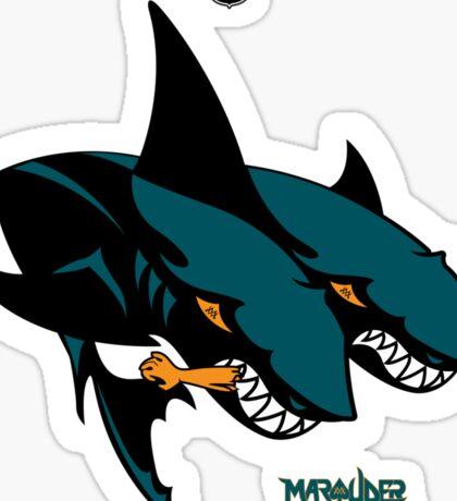 The 2 Headed Sharks From San Jose Sticker
