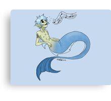 2d mermaid w/o background Canvas Print