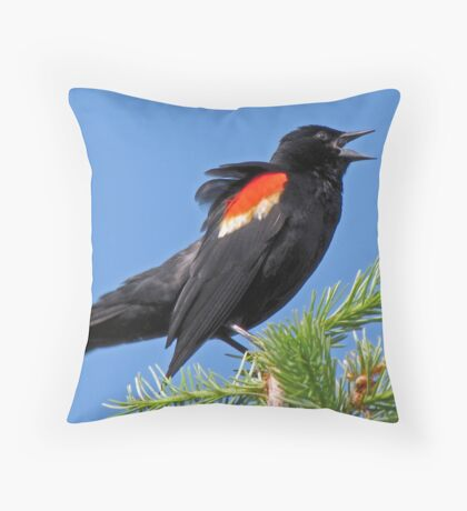 Sings Out His Warning Song Throw Pillow