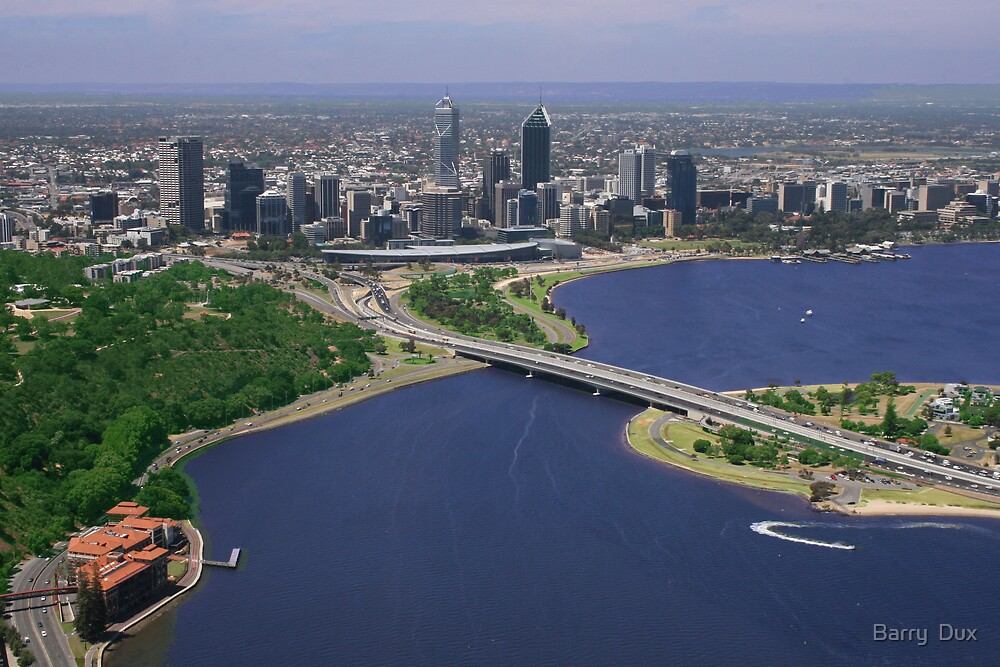 Perth From Above by Barry  Dux