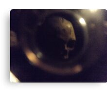 Lost Skull In Paris Catacombs  Canvas Print