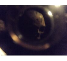 Lost Skull In Paris Catacombs  Photographic Print
