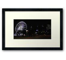 Perth Wheel At Night  Framed Print