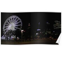 Perth Wheel At Night  Poster