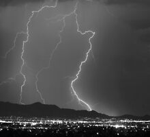 Mountains, City Lights and Lightning Bolts. by Bo Insogna
