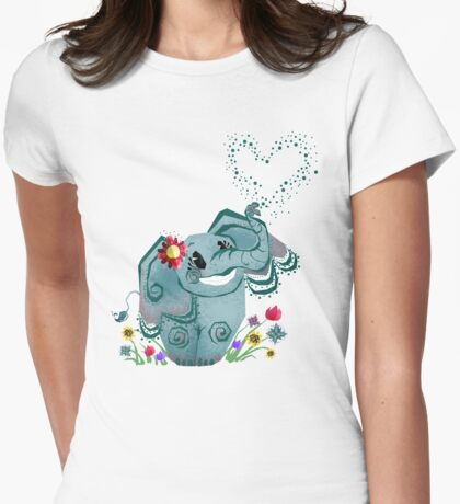 Blair the Elephant Womens Fitted T-Shirt