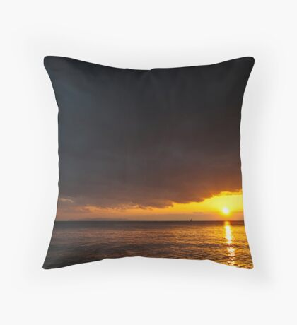 Under an angry sky. Throw Pillow