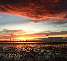Angry sky at Saltubrn by Jon Tait