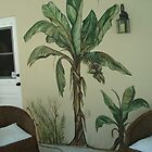 Banana tree by the Pool by viveca