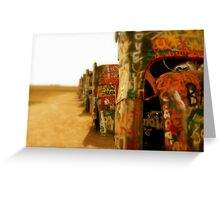 Cadillac Ranch Greeting Card