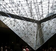 Louvre Inverted Pyramid Paris by Keith Richardson