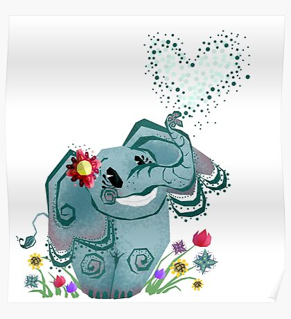 Blair the Elephant Poster