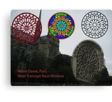 Notre Dame Rose Window Evolution Canvas Print