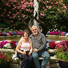 Gerry (Grizz) and Myself in Butchart Gardens, Vancouver Island by AnnDixon