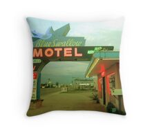 Blue Swallow Throw Pillow
