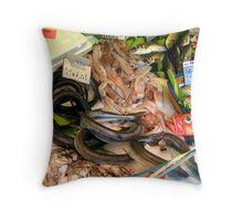 Marche Bastille Seafood, Paris Throw Pillow