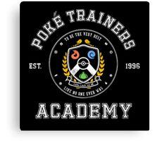 poke trainers academy Canvas Print