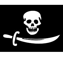 Black Bart Pirate Flag Photographic Print
