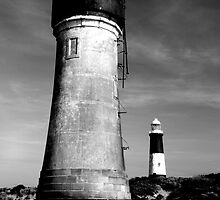 Lighthouses at Spurn Point by Jon Tait