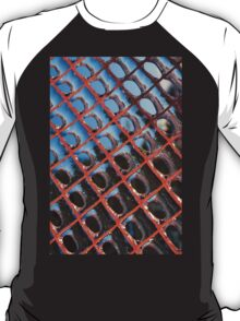 Frozen Patterns in Orange and Blue T-Shirt