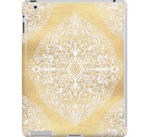 White Gouache Doodle on Gold Paint iPad Case/Skin