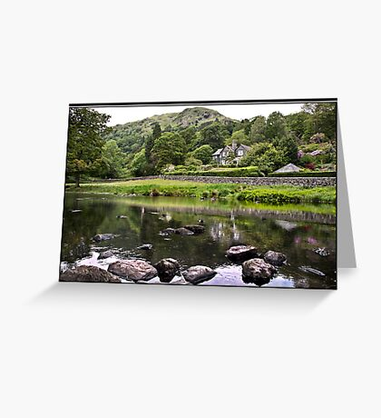House overlooking Rydal Water Greeting Card