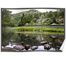 House overlooking Rydal Water Poster