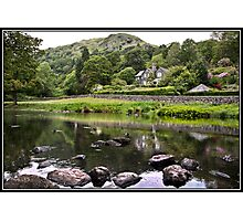 House overlooking Rydal Water Photographic Print