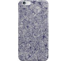 Held Together - a pattern of navy blue doodles iPhone Case/Skin