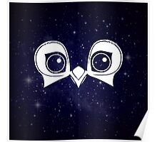 Dark Blue Owl Poster