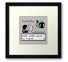 harry potter nintendo battle Framed Print