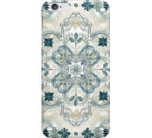 Forest Green & Neutral Taupe Detailed Lace Doodle Pattern iPhone Case/Skin
