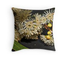 Eucalyptus Flowers on the dash Throw Pillow