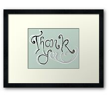 Thank you - hand lettering Framed Print