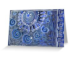 Abstraction in blue Greeting Card