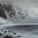 A small company of ore miners traversing the Darthan Pass by Daniel Rodgers