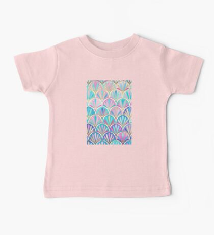 Glamorous Twenties Art Deco Pastel Pattern Baby Tee