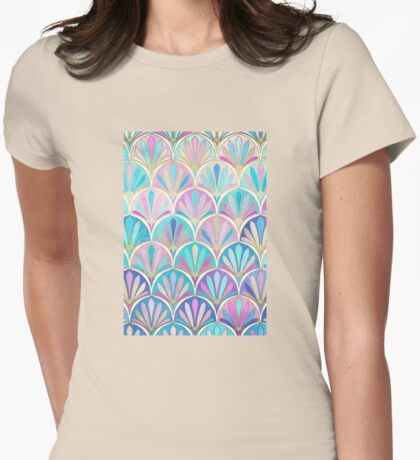 Glamorous Twenties Art Deco Pastel Pattern Womens Fitted T-Shirt