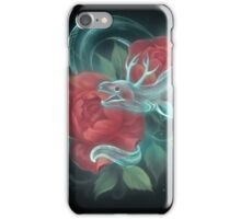 Ghost eel and roses iPhone Case/Skin