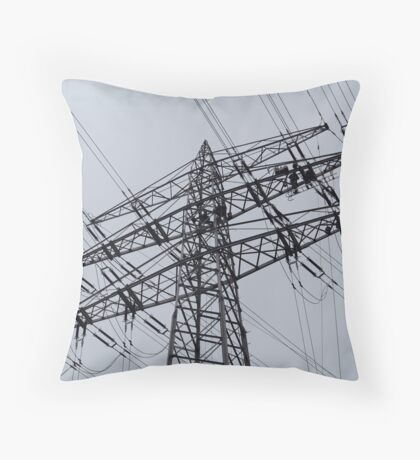 Power Pylon Throw Pillow
