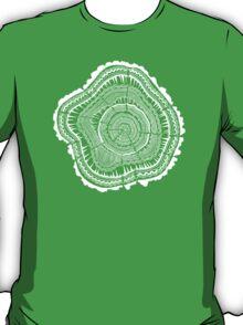 Woodblock Tree Rings T-Shirt