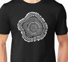 Woodblock Tree Rings Unisex T-Shirt