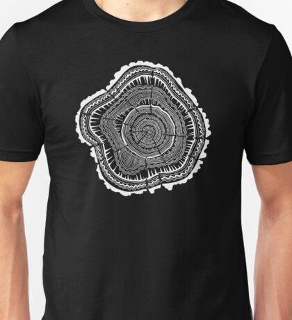 Woodblock Tree Rings Unisex T-Shirt