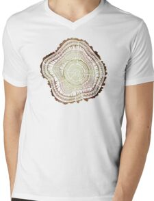 Tree Rings – Watercolor Mens V-Neck T-Shirt