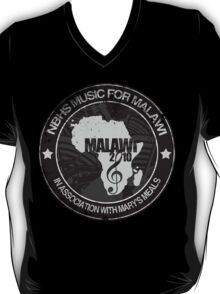 MFM Round Retro Monochrome Black T-Shirt