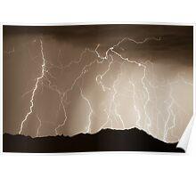 Mountain Lightning Thunderstorm Poster