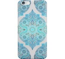 Through Ocean & Sky - turquoise & blue Moroccan pattern iPhone Case/Skin