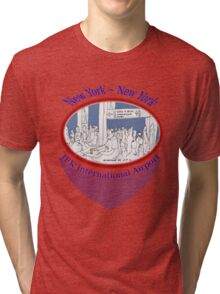 JFK crowd watching and sketching~~~ Tri-blend T-Shirt
