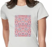 Natural Rhythm - a hand drawn pattern in peach, mint & aqua Womens Fitted T-Shirt