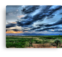 Country Sunset 2 Canvas Print